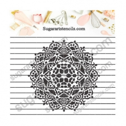 Lace doily mandala cookie...