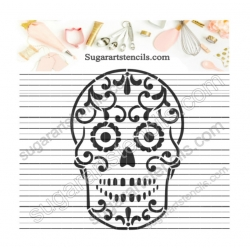 Sugar skull Cookie stencil...