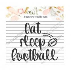 Sport words cookie stencil...