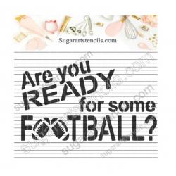 Football words sport cookie...
