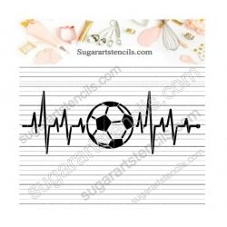 Soccer sport heart beat...