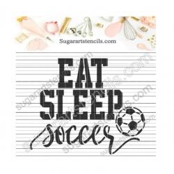 Soccer words cookie stencil...