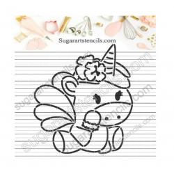 Summer PYO Cookie stencil...