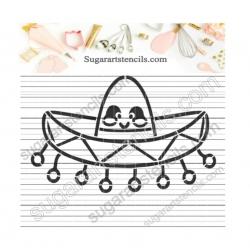 Sombrero PYO Cookie stencil...