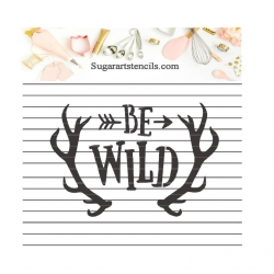 Be Wild cookie stencil deer...
