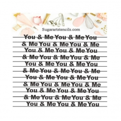 You and me words...