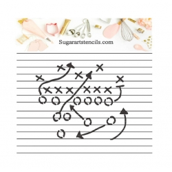 Cookie stencil football...