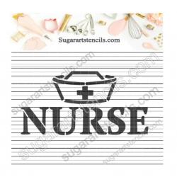 Nurse word Cookie stencil...