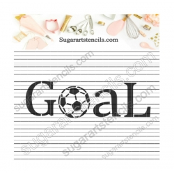 Soccer goal sport Cookie...
