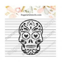 Sugar skull Cookie stencil...