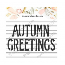 Autumn Greetings words...