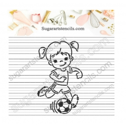 Soccer girl PYO Cookie...