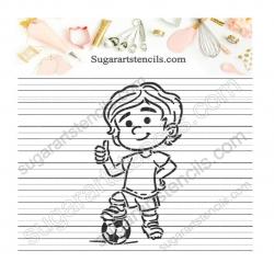 Soccer PYO Cookie stencil...