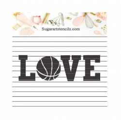 Love Basketball cookie...