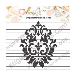 Damask cookie stencil NB1166