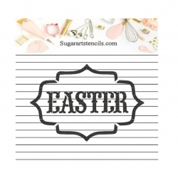 Easter word frame cookie...