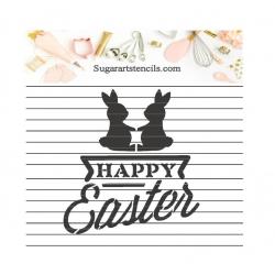 Happy Easter bunnies cookie...