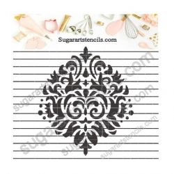 Damask cookie stencil NB1148