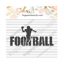 Football word cookie...