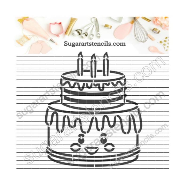 Groovy Food Pyo Cookie Stencil Birthday Cake Paint Your Own Av0097 Personalised Birthday Cards Vishlily Jamesorg