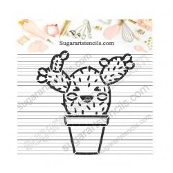 PYO cookie Stencil Cactus...