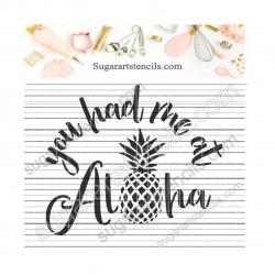 Summer cookie stencil Aloha...