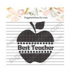 Best teacher cookie stencil...