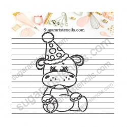 Birthday Hippo PYO cookie...