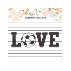 Love soccer cookie stencil...