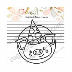 Birthday PYO cookie Stencil...