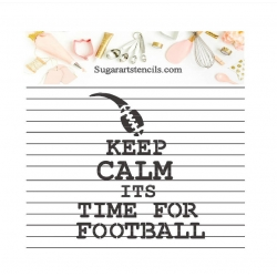 Football time cookie...