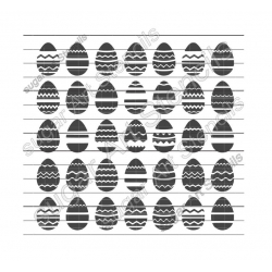cookie stencil Easter eggs...