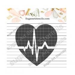 Heart cardiogram cookie...