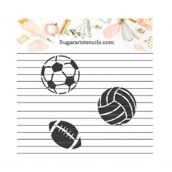 Sports ball cookie stencil...