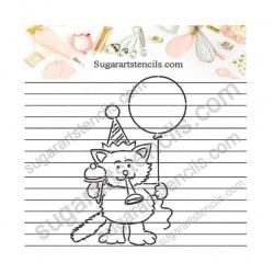 PYO Cookie stencil birthday...