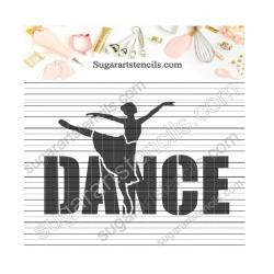 Dance word Ballerina cookie...