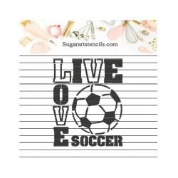 Cookie stencil love soccer...