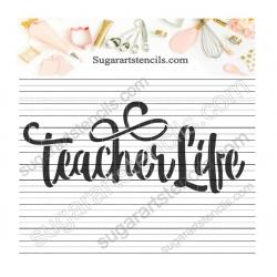 Teacher life words cookie...