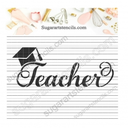 Teacher word cookie stencil...