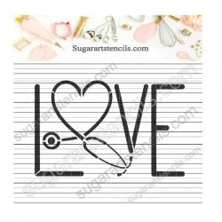 Love Nurse cookie stencil...