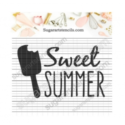 Sweet summer words cookie...