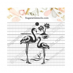 Flamingo cookie stencil...
