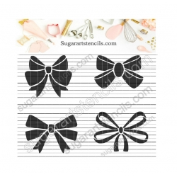 Bows cookie stencil  NY051
