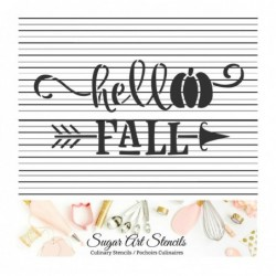 Hello Fall words cookie...