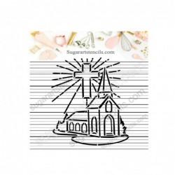 Church PYO cookie stencil...