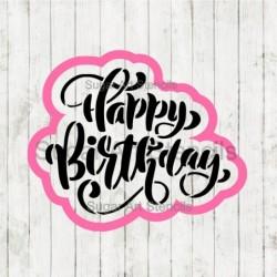 Happy Birthday words cookie...