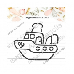 Little boat PYO cookie...