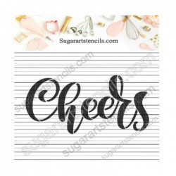 Hand lettered cheers word...