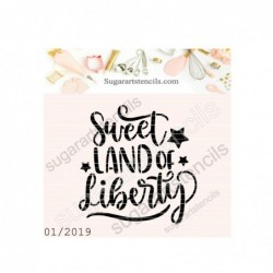 July 4th cookie stencil...
