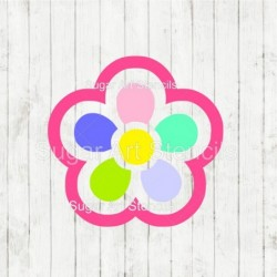 Flower Paint pallet cookie...